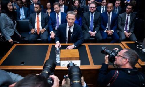 Zuckerberg at a press conference